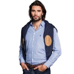 Chemise premium rayée bleu foncé