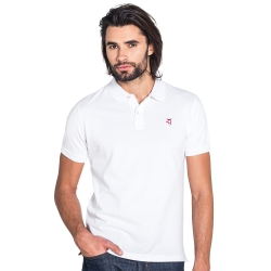 Polo classique blanc en coton piqué