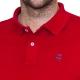 Polo classique rouge en coton piqué