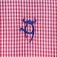 Chemise à carreaux Vichy rouge