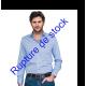Chemise cintrée à carreaux Vichy bleu clair